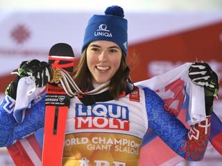 Vlhová dosiahla životný úspech, je majsterkou sveta v obrovskom slalome