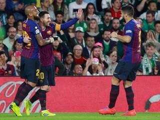 Barcelona si hladko poradila s Betisom, Messi zaznamenal tretí hetrik v sezóne