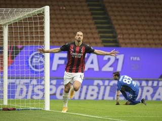 Ibrahimovič žiaril, dal dva góly. AC Miláno však ako posledný elitný klub zakopol