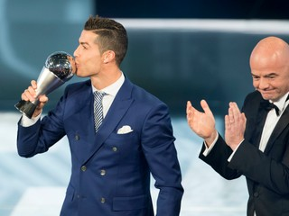 Najlepším futbalistom roka 2016 podľa FIFA je Cristiano Ronaldo