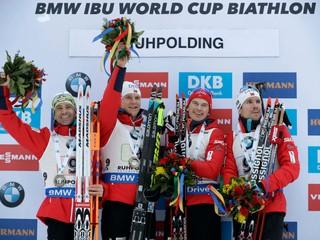 Slováci skončili štrnásti v štafete v Ruhpoldingu, triumfovali Nóri