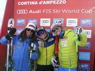Gutová triumfovala v zjazde v Cortine d'Ampezzo, Vonnová vypadla