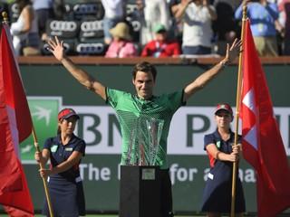 Zažil ďalší rozprávkový týždeň. Federer ovládol turnaj v Indian Wells