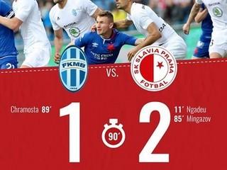 Slavia vyhrala v Mladej Boleslavi a má český titul na dosah
