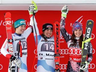 Fluryová vyhrala super-G v St. Moritzi, Kantorová skončila na 54. mieste