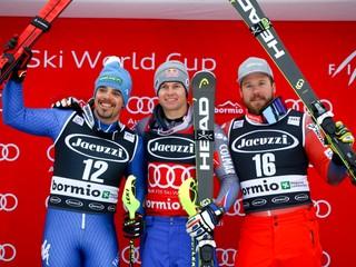 Kombináciu v Bormiu vyhral Pinturault, líder po zjazde nedokončil slalom