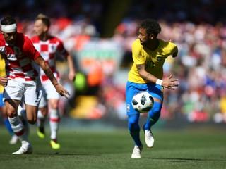 Neymar pri návrate strelil gól, Brazília zdolala Chorvátsko