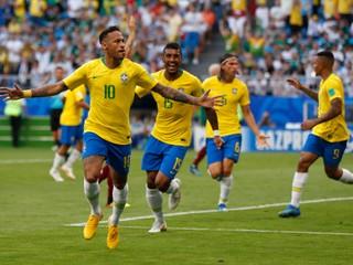 Brazília vyradila Mexiko. Neymar rozhodol zápas, ale opäť simuloval