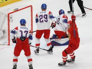 Česi napriek slušnému výkonu podľahli Rusom, v zápase nepremenili viacero šancí