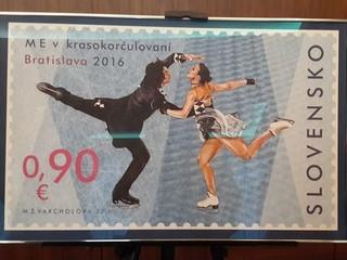 Slovenská pošta pripravila ku krasokorčuliarskym ME špeciálnu známku