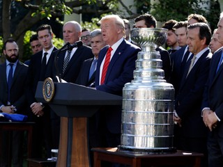 Trump prijal šampiónov zo St. Louis. Do Bieleho domu prišli všetci okrem jedného