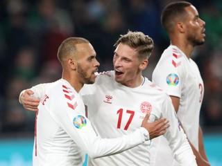 Dáni a Švajčiari postúpili na EURO. Taliani strelili deväť gólov