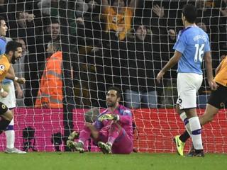 Oslabený Manchester City zaváhal. Proti Wolves stratil všetky body