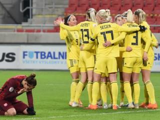 Slovenky ukončili kvalifikáciu debaklom, Švédky potvrdili rolu favorita