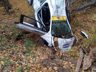 Po havárii na Rally Košice skončila posádka v nemocnici