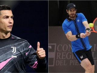 Športové legendy si vzdali hold. Ronaldo a Murray si venovali dary