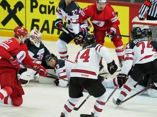 Rusko na šampionáte končí! Vyradila ho Kanada, ktorá ledva postúpila do štvrťfinále