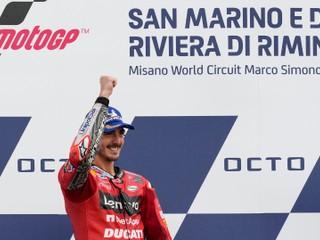 V San Maríne triumfoval Talian Bagnaia, líder poradia v MotoGP má však náskok