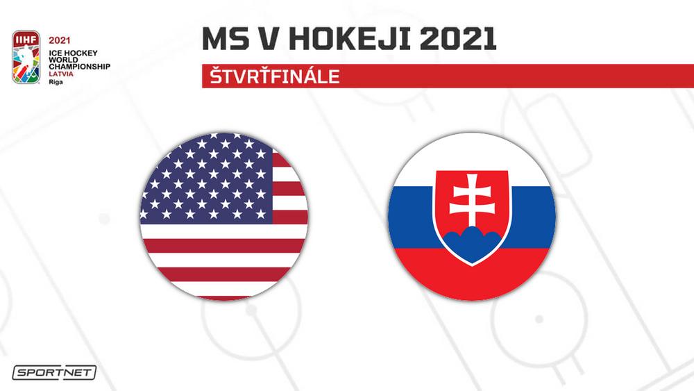 Slovensko - USA: ONLINE zo štvrťfinále MS v hokeji 2021
