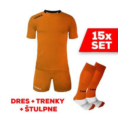 LEGEA SET dres  MONACO + trenky + štulpne oranžová čierna