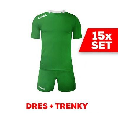 LEGEA SET dres  MONACO + trenky zelená biela