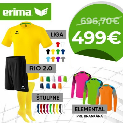 ERIMA dres krátky LIGA senior - sada 15+2
