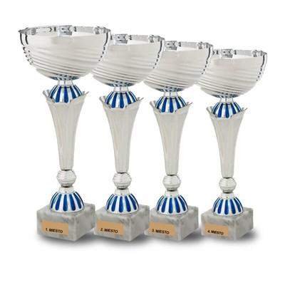Akcia - sada strieborno modrých pohárov