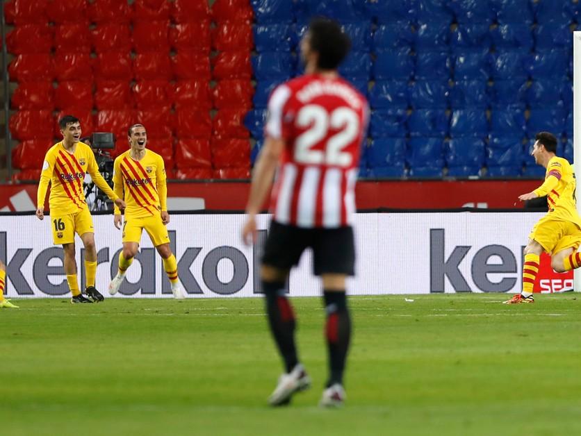 Bilbao sa zosypalo. Messi dotiahol Barcelonu k triumfu v Copa del Rey