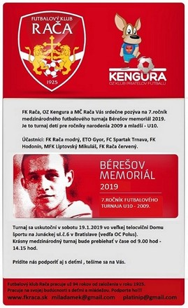 Pozvánka na Bérešov memoriál 2019