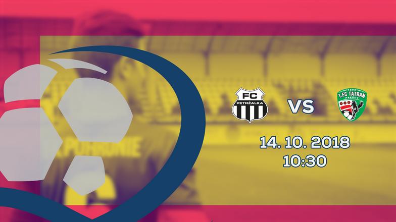 LIVE: 2. LIGA: 14. OKTÓBRA 2018, 10:30 FC PETRŽALKA – 1. FC TATRAN PREŠOV
