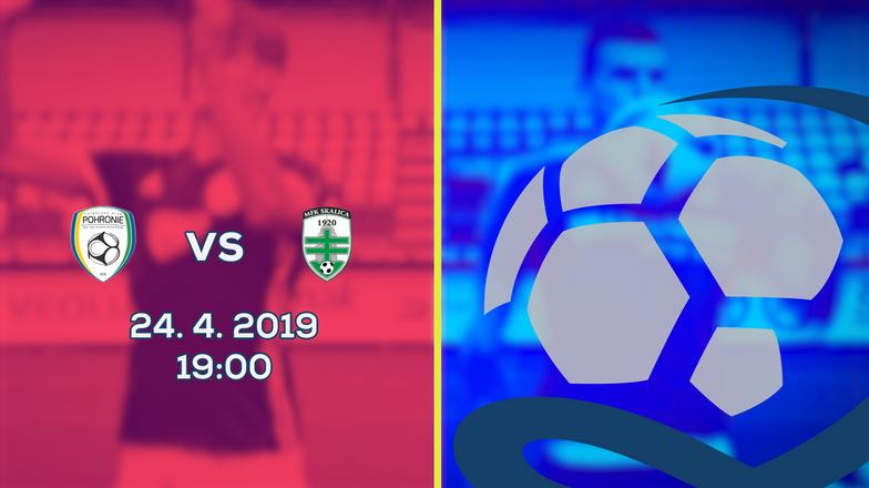 LIVE: 2. LIGA: 24. APRÍLA 2019, 19:00 FK POHRONIE - MFK SKALICA