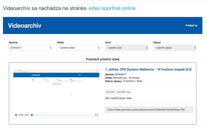 Metodické usmernenie k používaniu Videoarchívu