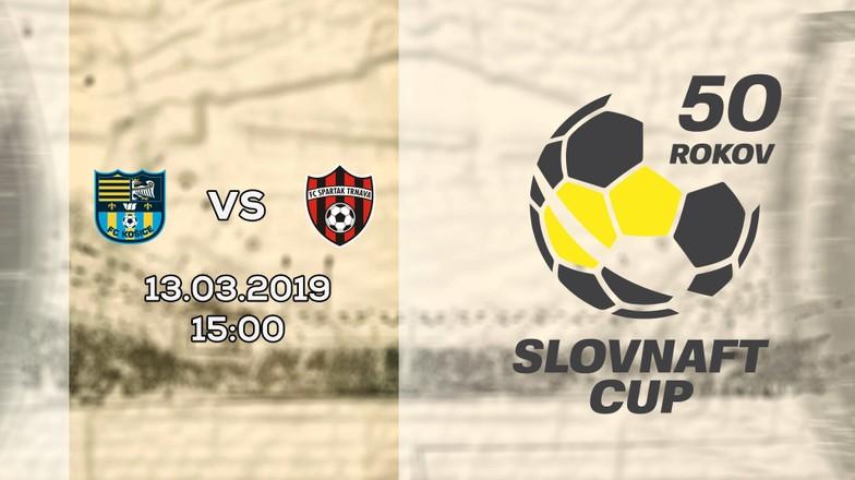 LIVE: SLOVNAFT CUP: 13. MARCA 2019, 15:00 FC KOŠICE - FC SPARTAK TRNAVA