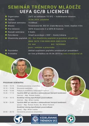 Seminár trénerov mládeže UEFA GC/B Licencie