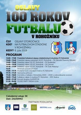 100 rokov futbalu v Rohožníku